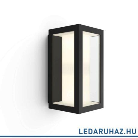 Philips Hue Impress kültéri fali LED lámpa, IP44, RGBW, 1200lm, 8W, fekete, White and Color Ambiance 1742930P7