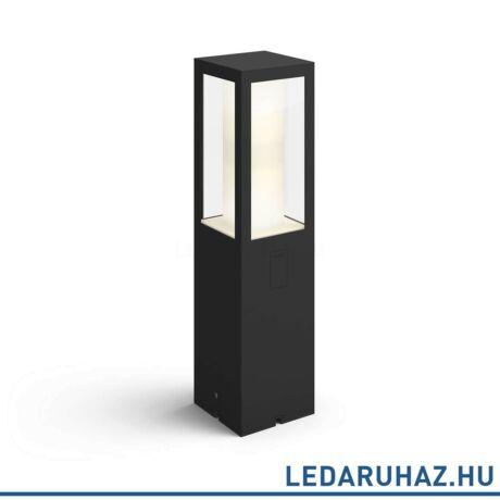 Philips Hue Impress kültéri leszúrható LED lámpa, tápegység nélkül, IP44, RGBW, 8W, 1200lm, fekete, White and Color Ambiance, 1743430P7