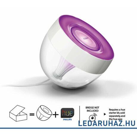 Philips Hue Iris RGB asztali LED lámpa, áttetsző, 8W, 7199960PH