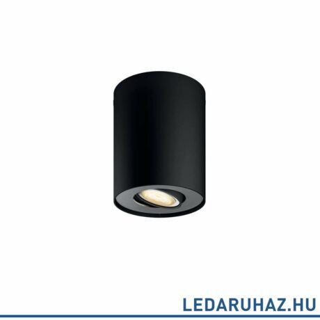 Philips Hue Pillar fekete mennyezeti LED lámpa GU10 spot, 2200K-6500K 2200K-6500K spot 56330/30/P8