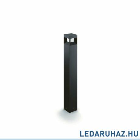 Philips Parterre fekete kültéri LED állólámpa, beépített LED, 1x8W, IP44, 77 cm magas, 1648230P0