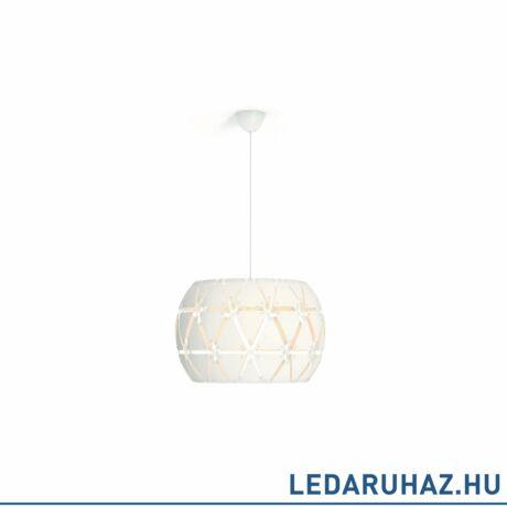 Philips Sandalwood fehér függesztett lámpa E27 foglalattal, 60 cm átmérő, 4091731PN
