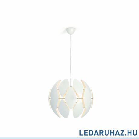 most -20%: Philips Chiffon fehér függesztett lámpa E27 foglalattal, 59 cm átmérő, 4093331PN