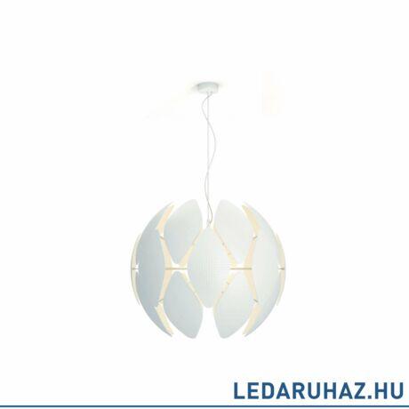Philips Chiffon fehér függesztett lámpa E27 foglalattal, 80 cm átmérő, 4093431PN