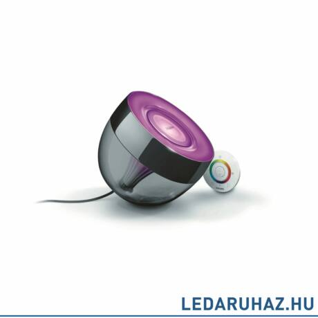 Philips Living Colors Iris, asztali LED lámpa, fekete, 1x10W, 7099930PH