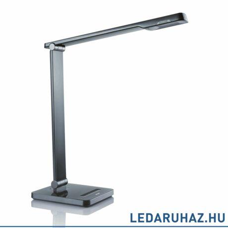 Philips Caliper fekete asztali LED lámpa, beépített LED, 1x6W, 41,7 cm magas, 716663016