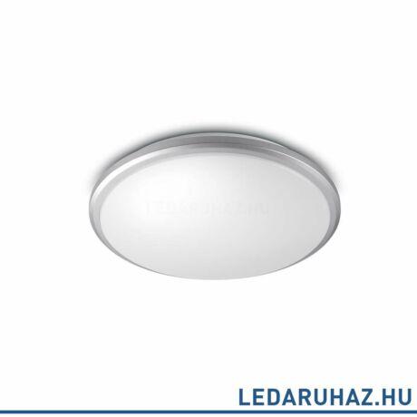 Philips Guppy szürke fürdőszobai mennyezeti LED lámpa, beépített LED, 12W, IP44, 29 cm átmérő, 3434687P0