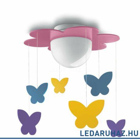 Philips Meria rózsaszín mennyezeti lámpa, E27 foglalattal, max. 11W, 38,5 cm átmérő, 4009628P0