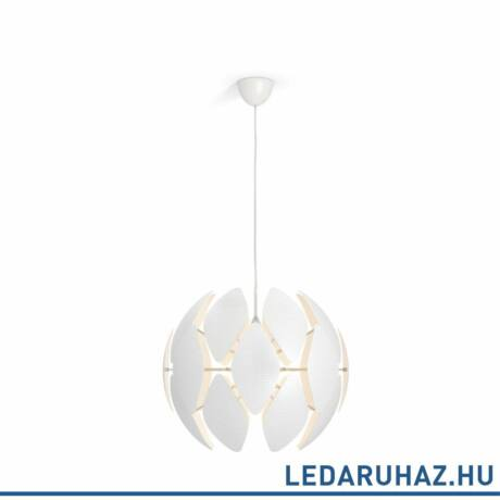 Philips Chiffon fehér függesztett lámpa E27 foglalattal, 59 cm átmérő, 4093331PN