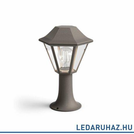 Philips Curassow kültéri álló lámpa, barna, E27 foglalat, 319 mm magas