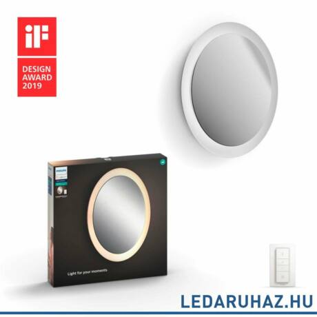 Philips Hue Adore LED tükör, beépített megvilágítással, fehér, 40W, 24V, IP44, 2200-6500K, +DimSwitch, 3435731P7