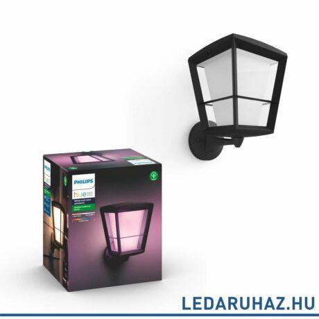 Philips Hue Econic kültéri fali LED lámpa, IP44, RGBW, 1150lm, 15W,fekete, White and Color Ambiance, 1743930P7