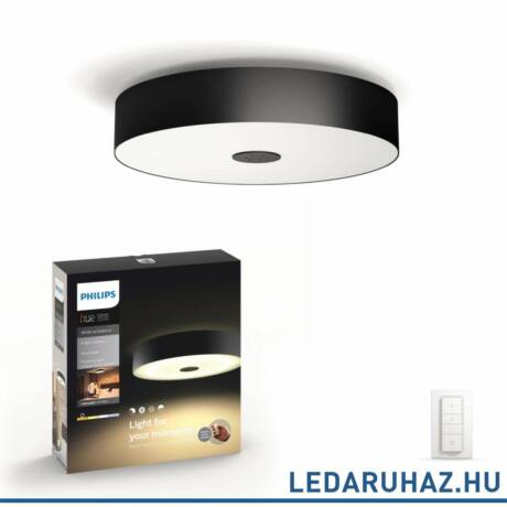 Philips Hue Fair mennyezeti LED lámpa, fekete, 39W, 3000 lm, 4000K, 2200K-6500K + DimSwitch, 40340/30/P7