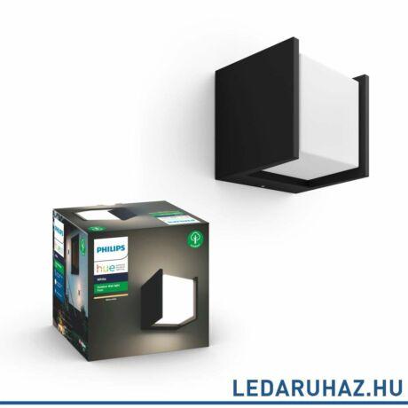 Philips Hue Fuzo kültéri fali LED lámpa, IP44, 2700K melegfehér, 1150lm, 15W, fekete, 1744530P7