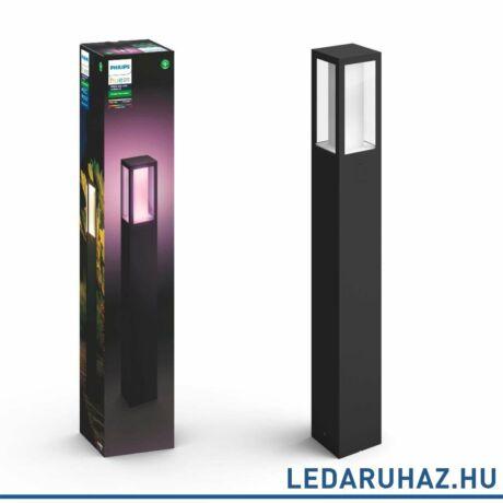 Philips Hue Impress kültéri leszúrható LED lámpa, IP44, RGBW, 1200lm, 8W, fekete, White and Color Ambiance 1743230P7