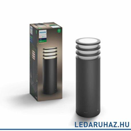 Philips Hue Lucca kütléri LED állóámpa, antracit, 9.5W, 230V, IP44, 2700K melegfehér fényforrással, 1740293P0