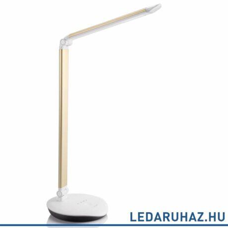 Philips Lever arany asztali LED lámpa, beépített LED, 1x5W, 43,5 cm magas, 720079216