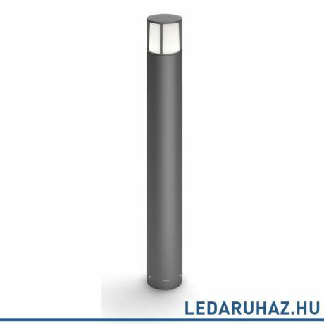 Philips Stock kültéri álló LED lámpa, antracitszürke, 1x6W, 600 lm, 2700K melegfehér, 770 mm magas, 164679316