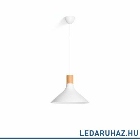 Philips Tunnel fehér függesztett lámpa E27 foglalattal, max. 60W, 44 cm átmérő, 4095431PN