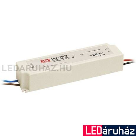 12 V LED tápegység, LPV-100-12, Mean Well, 100W/12V/0-8,5A