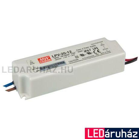 12 V LED tápegység, LPV-20-12, Mean Well 20W/12V/0-1,67A