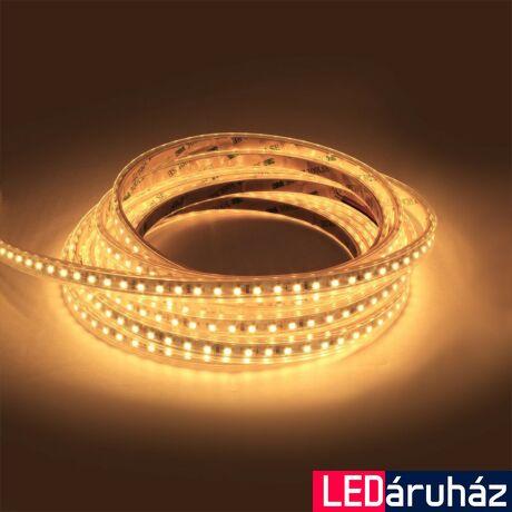 Melegfehér SMD LED szalag, 24V 3528, beltéri, 9,6W, 120LED/m, 3000K