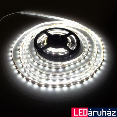 SMD LED szalag, 3528 24V 60 LED/m, 6000K hidegfehér, beltéri, 4,8W