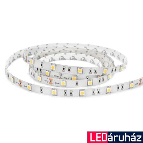 RGB SMD LED szalag, 5050 24V 30 LED/m, beltéri, 7,2W