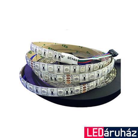 Vízálló RGB SMD LED szalag, 5050 24V 60 LED/m, 14,4W, IP65 szilikon