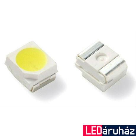 3528 SMD LED, 4000K természetes fehér, tekercs, 2000 db, 7-8 lm