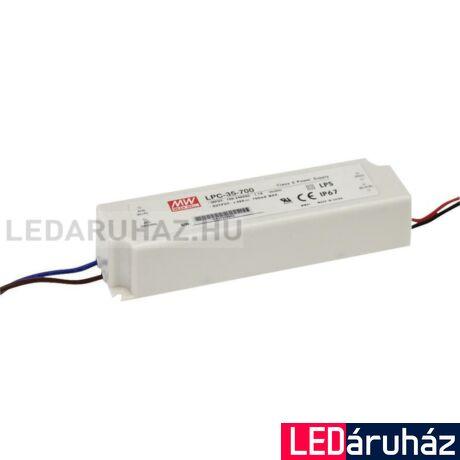 Áramgenerátor LED Tápegység Mean Well LPC-35-1400 35W/9-24V/1400mA