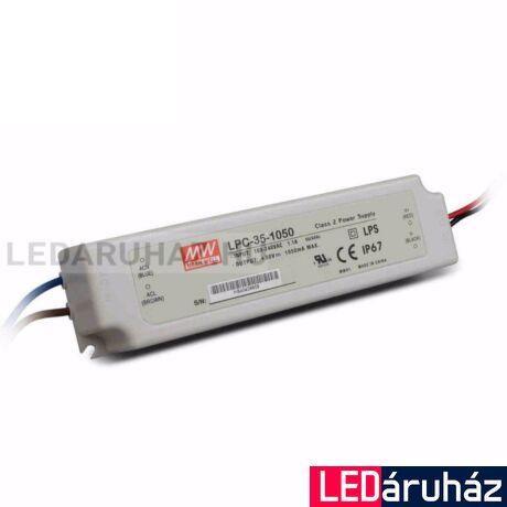 Áramgenerátoros LED Tápegység Mean Well LPC-35-1050 35W/9-30V/1050mA