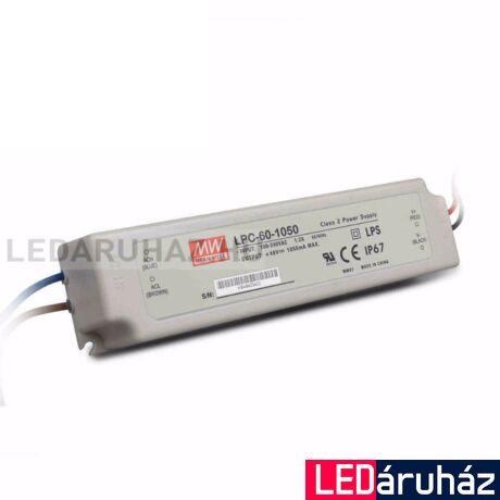 Áramgenerátoros LED Tápegység Mean Well LPC-60-1050 60W/9-42V/1050mA