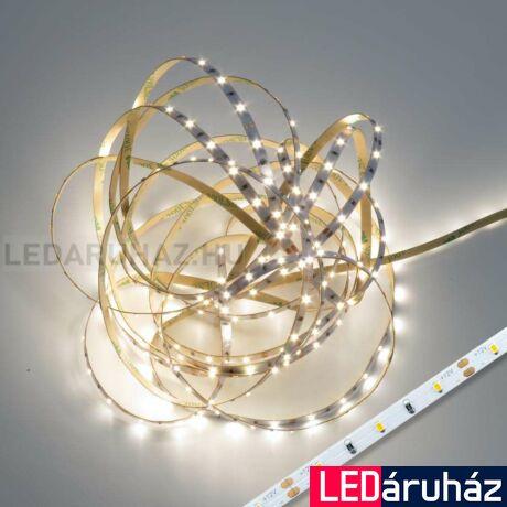 Természetes fehér CRI 90 4000K SMD LED szalag, 2216 LED, 12V, beltéri 60 LED/m, 440lm/m, 4,8W, 5 mm széles, 2 év garancia