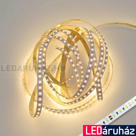 Melegfehér CRI 90 2200K SMD LED szalag, 2216 LED, 12V, beltéri 240 LED/m, 1320lm/m, 19,2 W, 2 év garancia
