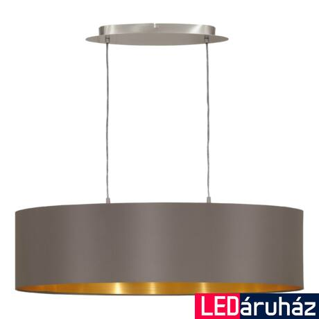 EGLO 31614 MASERLO Textil függesztett lámpa, 78cm, cappuccino 2 db. E27 foglalattal + ajándék LED fényforrás