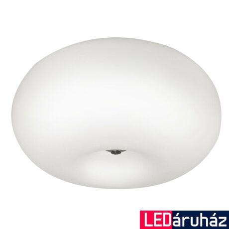 EGLO 86812 OPTICA Mennyezeti lámpa, opál üvegburával, 35cm átmérő, 2 db E27 foglalat + ajándék LED fényforrás