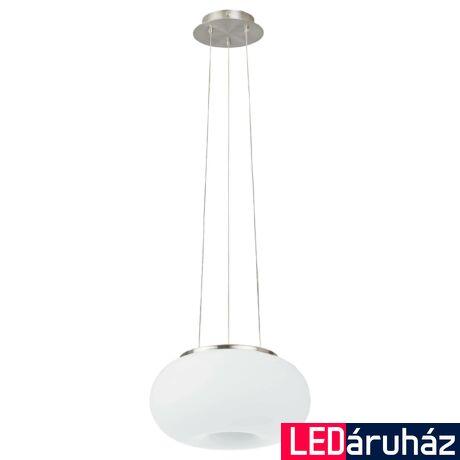 EGLO 86813 OPTICA Függesztett lámpa, opál üvegburával, 28cm átmérő, 2 db E27 foglalat + ajándék LED fényforrás