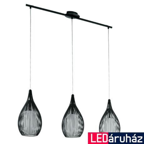 EGLO 94389 RAZONI fekete, függeszték, 3 db E27 foglalattal, 99x110cm, 3x60W + ajándék LED fényforrás