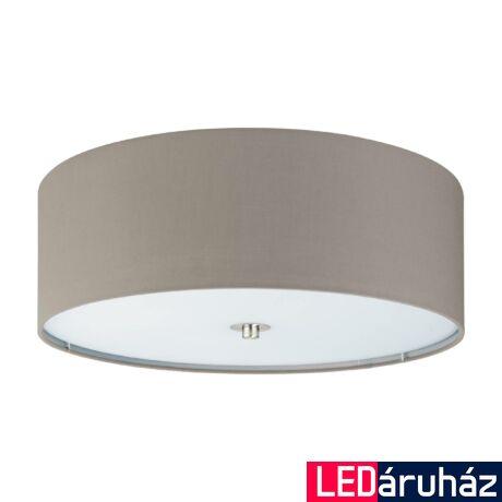 EGLO 94919 PASTERI Textil mennyezeti lámpa, 47,5cm, szürkésbarna, 3 db E27 foglalattal + ajándék LED fényforrás