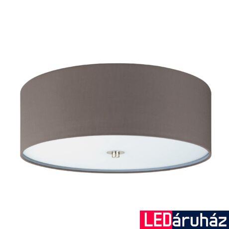 EGLO 94922 PASTERI Textil mennyezeti lámpa, 47,5cm, antracit, 3 db. E27 foglalattal + ajándék LED fényforrás