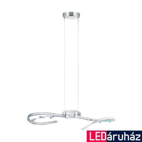 EGLO 97488 VALLEMARE 1 Króm/kristály LED függeszték, 73cm hosszú, 2x8W, 3000K melegfehér, 2x1100lm