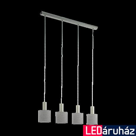 EGLO 97674 CONCESSA 2 Szürke függeszték, 4 db. E27 foglalattal, 94x16cm, 150cm, 4x60W + ajándék LED fényforrás