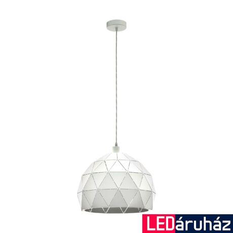 EGLO 97855 ROCCAFORTE Fehér függesztett lámpa, E27 foglalattal, 40cm átmérő, max. 1x60W + ajándék Access távirányítós(11807) LED fényforrás