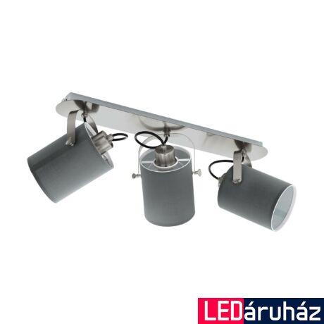 EGLO 98141 VILLABATE Fali/ mennyezeti lámpa, matt nikkel, szürke 3XE27 foglalattal, 57,5cm + ajándék LED fényforrás