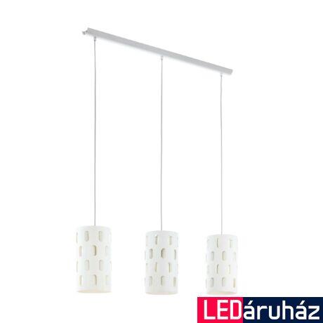 EGLO 98276 RONSECCO Fehér függesztett lámpa, 3XE27 foglalattal, 80x110cm + ajándék LED fényforrás