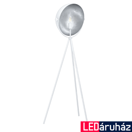 EGLO 98457 DARNIUS Fehér, ezüst állólámpa, E27 foglalattal, 142cm + ajándék Access távirányítós(11807) LED fényforrás