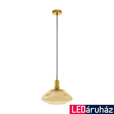 EGLO 98619 TORRONTES Függesztett lámpa, borostyán üveg E27 foglalattal, 34,5x110cm + ajándék Access távirányítós(11807) LED fényforrás