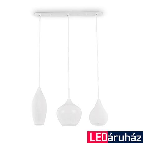 IDEAL LUX SOFT függesztett lámpa 3 db. E14 foglalattal, max. 3x40W, 60 cm hosszú, fehér 111858