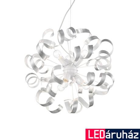 IDEAL LUX VORTEX függesztett lámpa 6 db. E14 foglalattal, max. 6x40W, 53 cm átmérő, ezüst 101613